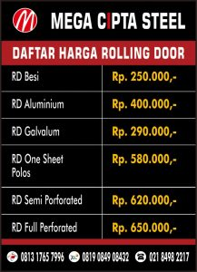 FOLDING GATE PVC KAYURINGIN ROLLING DOOR MARGA JAYA